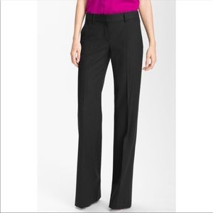 Theory Black Trousers Wool Blend Sz 0